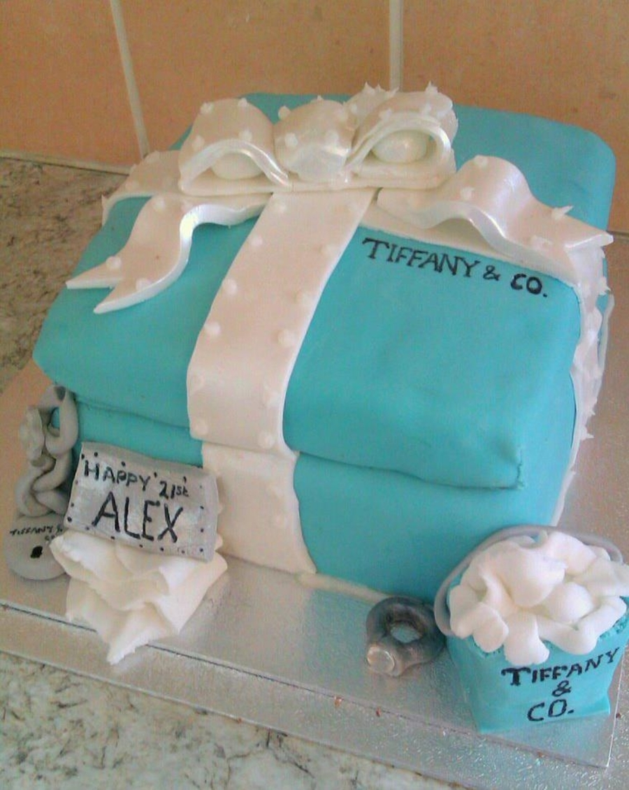 Tiffany & Co Cake  on Cake Central
