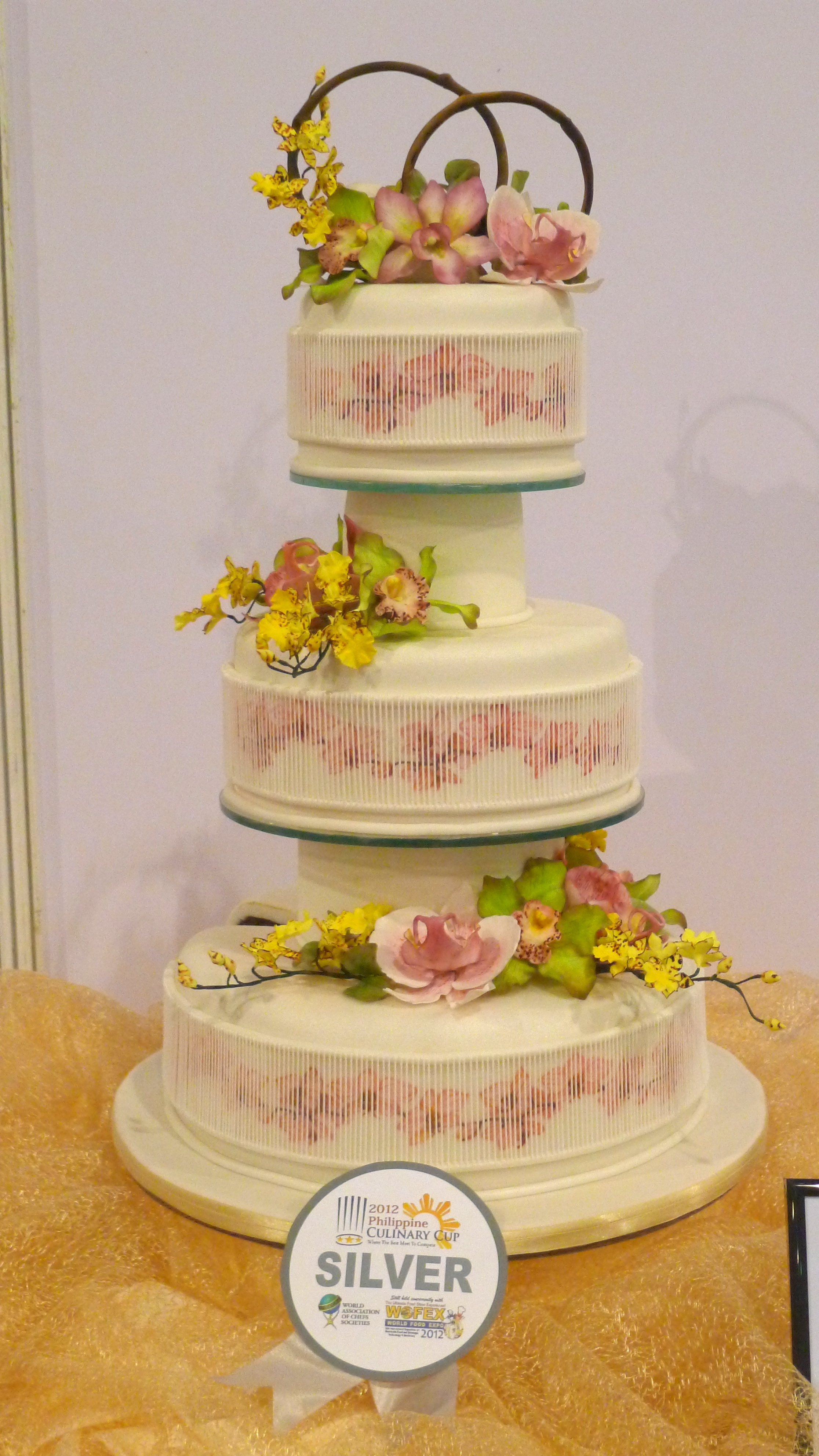 My 2011 Wedding Cake Entry For The 2011 Philippine Culinary Cup Wacs ...