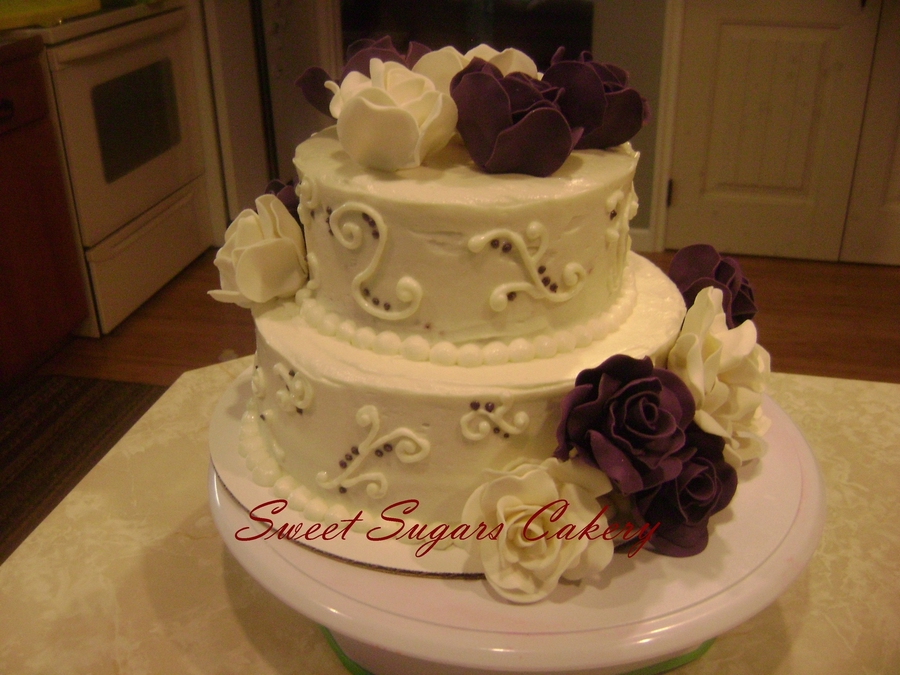 2 tier round wedding cakes pictures 2 tier wedding cake cakecentral 10136