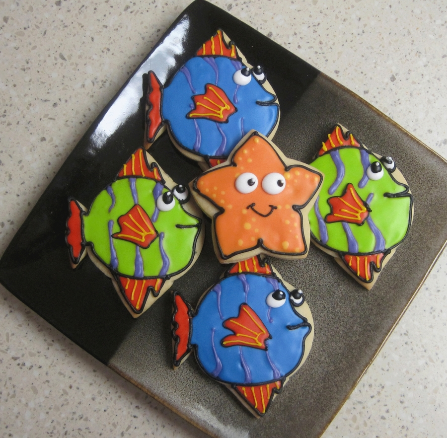 Fish And Starfish on Cake Central