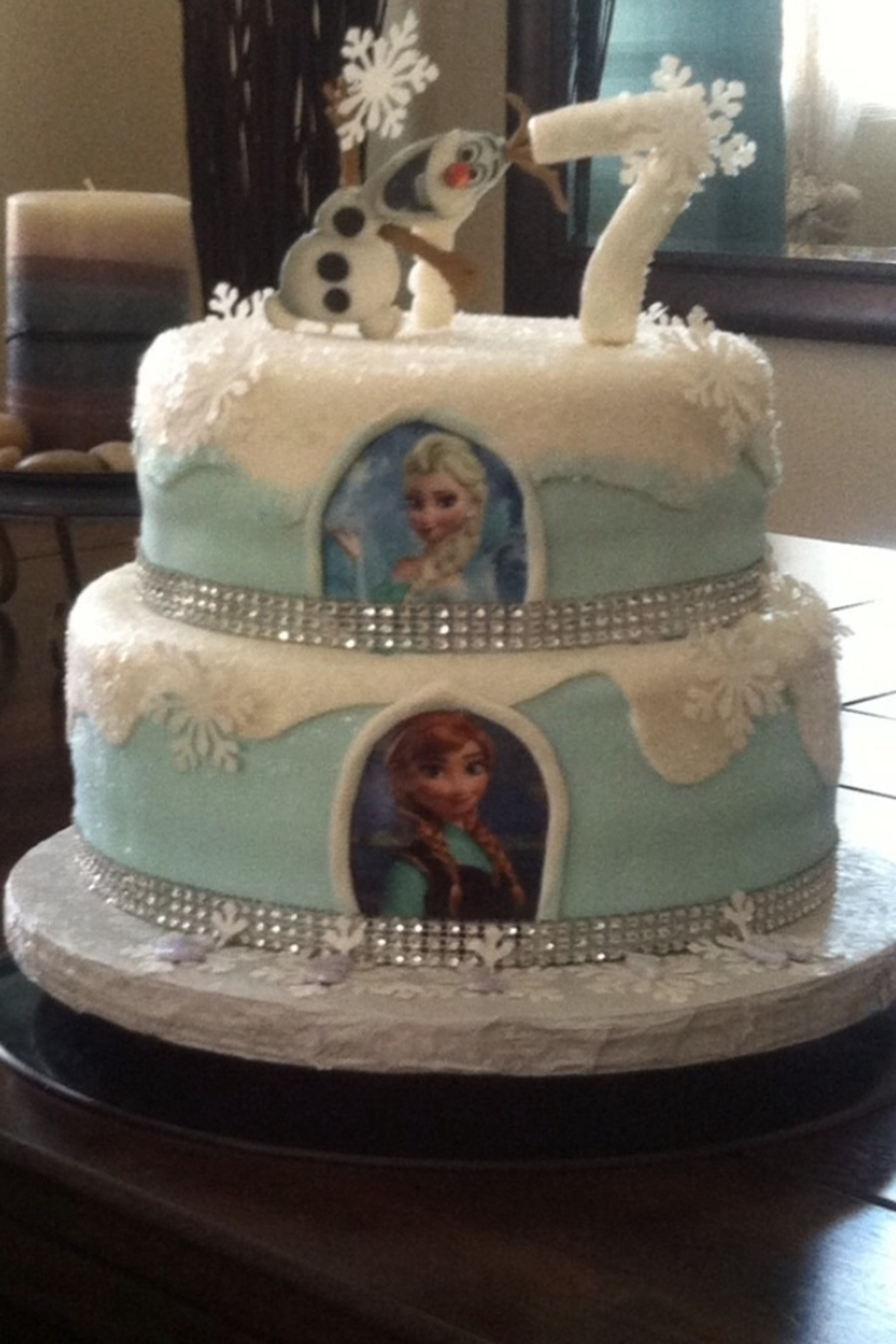 Cake Central Edible Images : Disney Frozen Birthday Cakefondant Edible Images ...