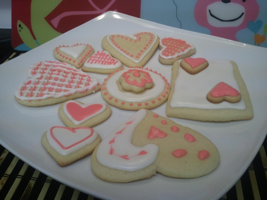 Valentine Day Cookies  on Cake Central