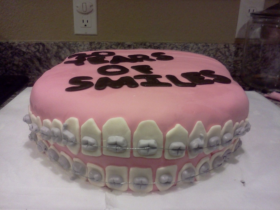 Braces Cake 20 Years Of Smiles Cakecentral