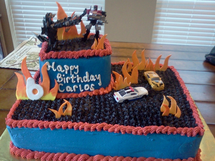 Marvelous Transformers Birthday Cake Cakecentral Com Funny Birthday Cards Online Alyptdamsfinfo