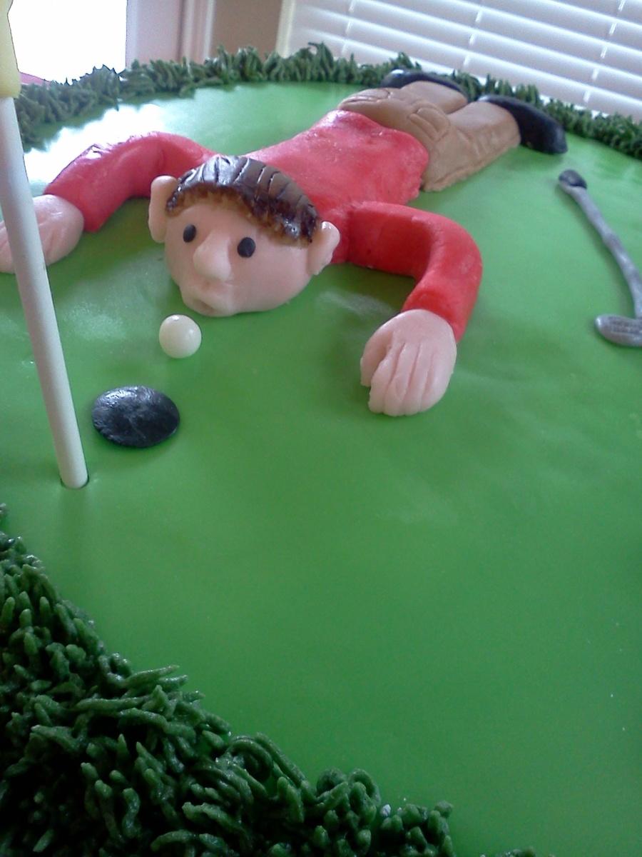 50th Golfer Birthday Cake Cakecentral Com