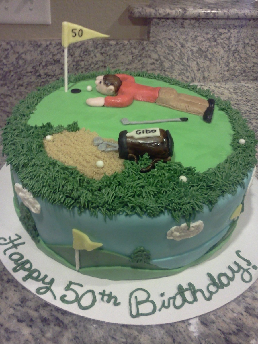 Superb 50Th Golfer Birthday Cake Cakecentral Com Funny Birthday Cards Online Alyptdamsfinfo
