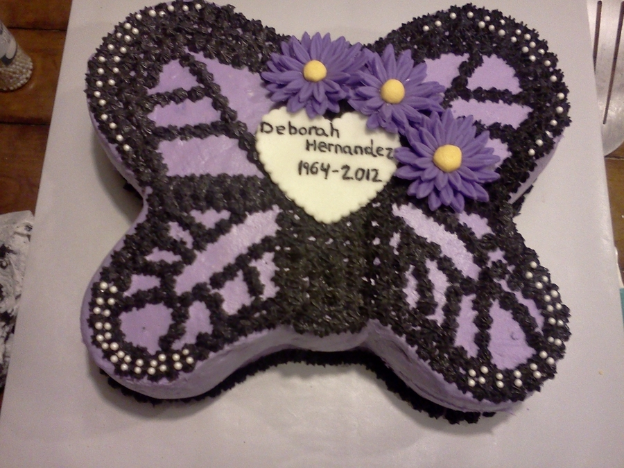Butterfly Memorial Cake on Cake Central