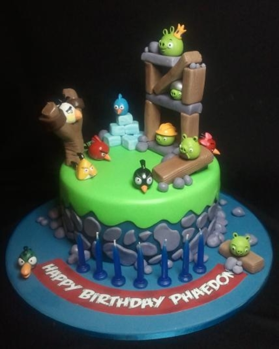 Angry Birds In Action on Cake Central