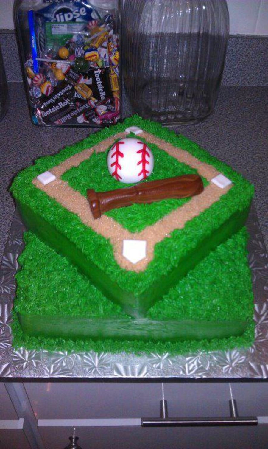 Baseball Themed Grooms Cake on Cake Central