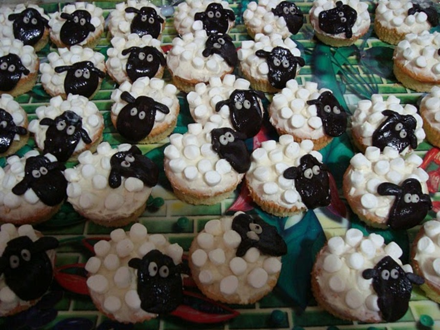Shaun The Sheep's Flock on Cake Central
