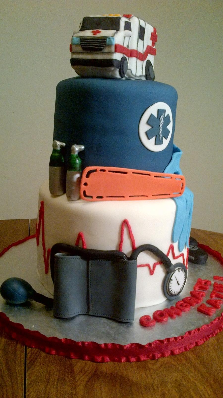 Emt Graduation Cake Cakecentral Com