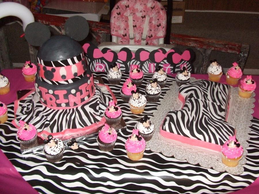 Zebra Minnie Mouse Theme CakeCentralcom
