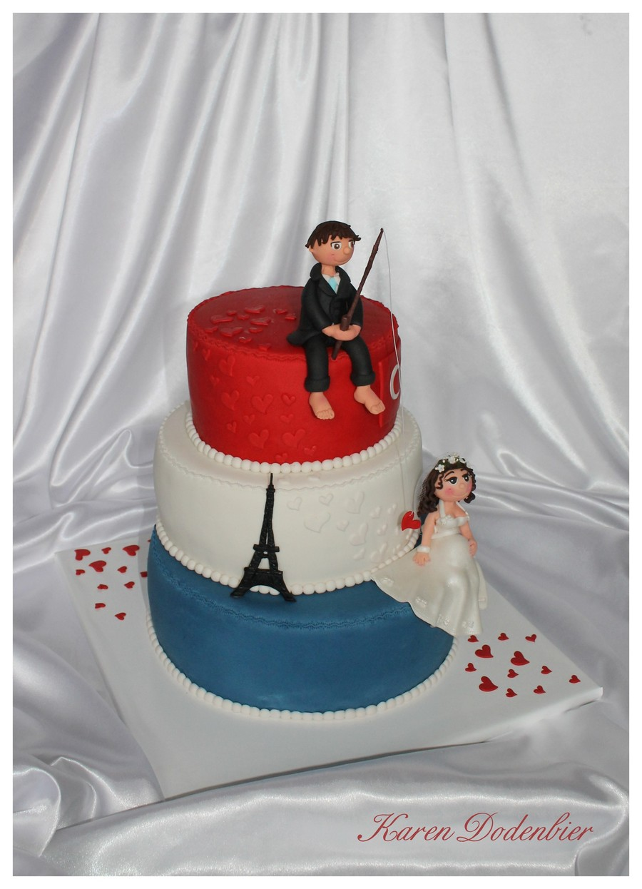 Red White Blue Wedding Cake Cakecentral Com