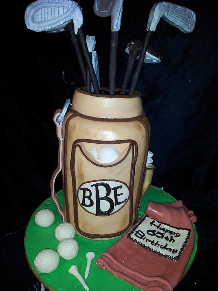 Golf Bag on Cake Central