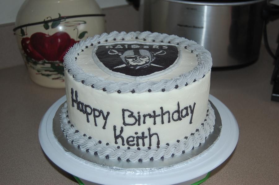 Oakland Raiders Birthday Cake Cakecentral