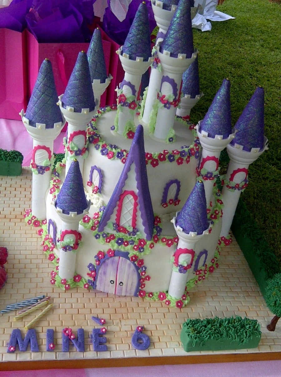 Barbie Castle Cake Images : Charmschool Barbie Castle Cake - CakeCentral.com