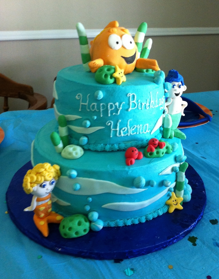 Fine Bubble Guppies Birthday Cake Cakecentral Com Birthday Cards Printable Trancafe Filternl