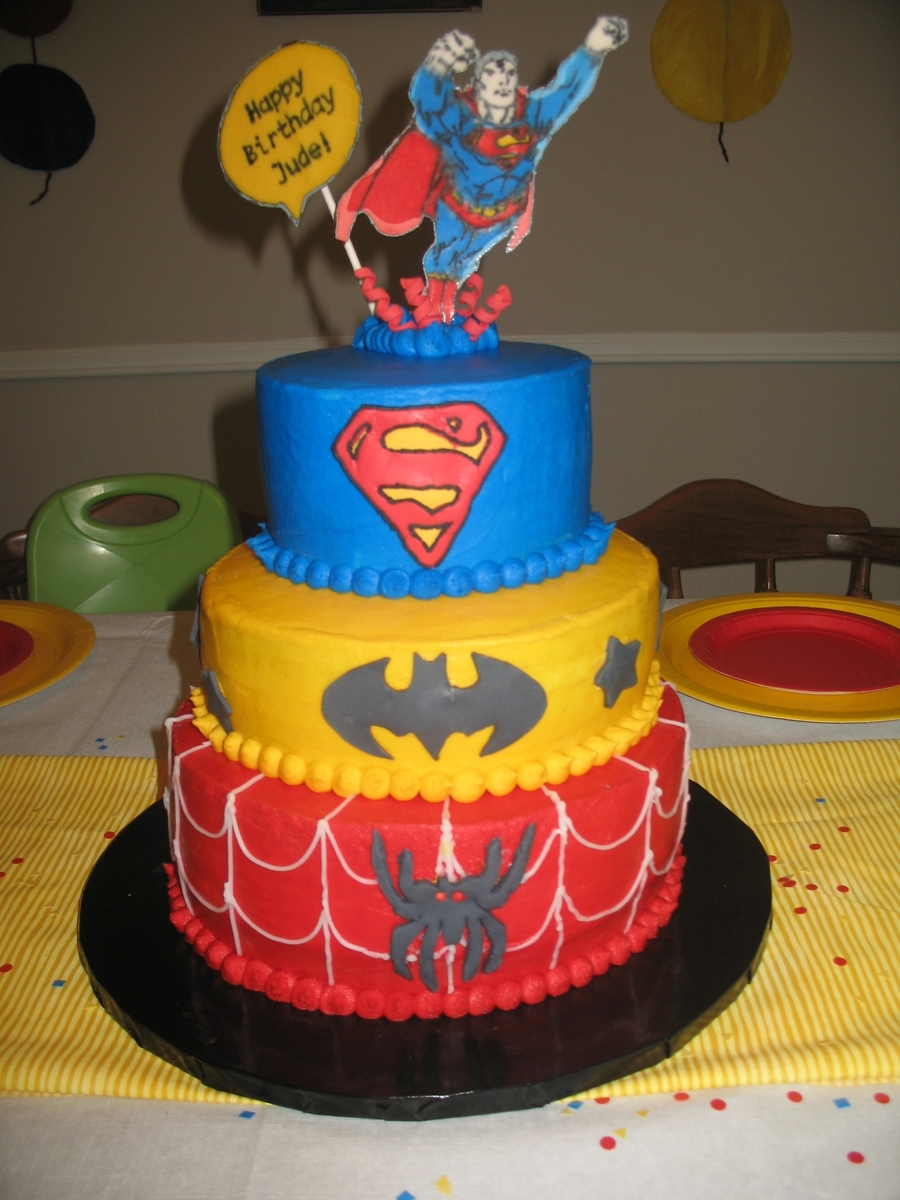 Superhero Birthday Cake on Cake Central