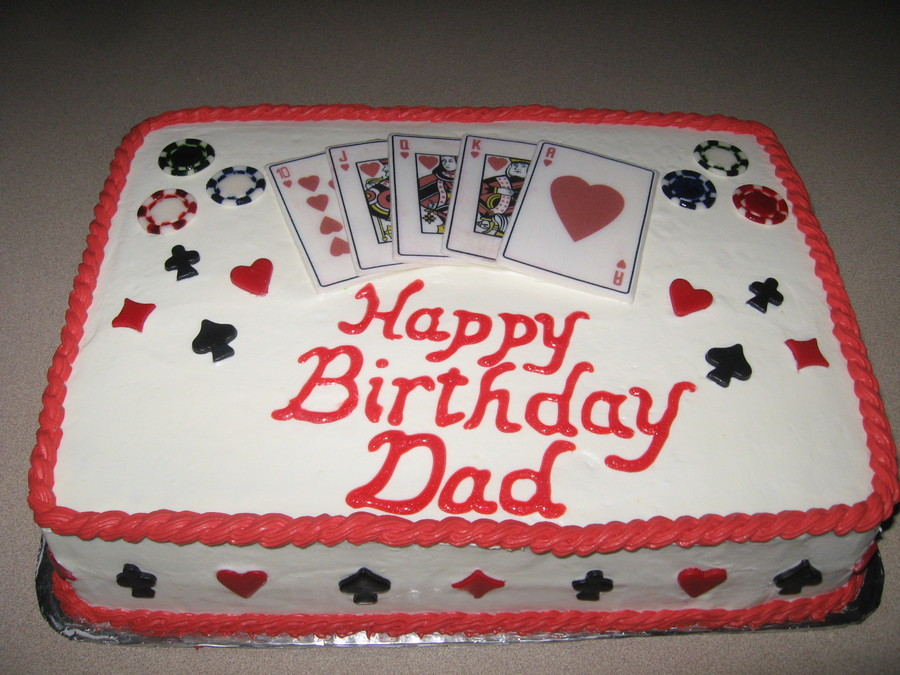 Grandpas Play Card Birthday Cake CakeCentralcom
