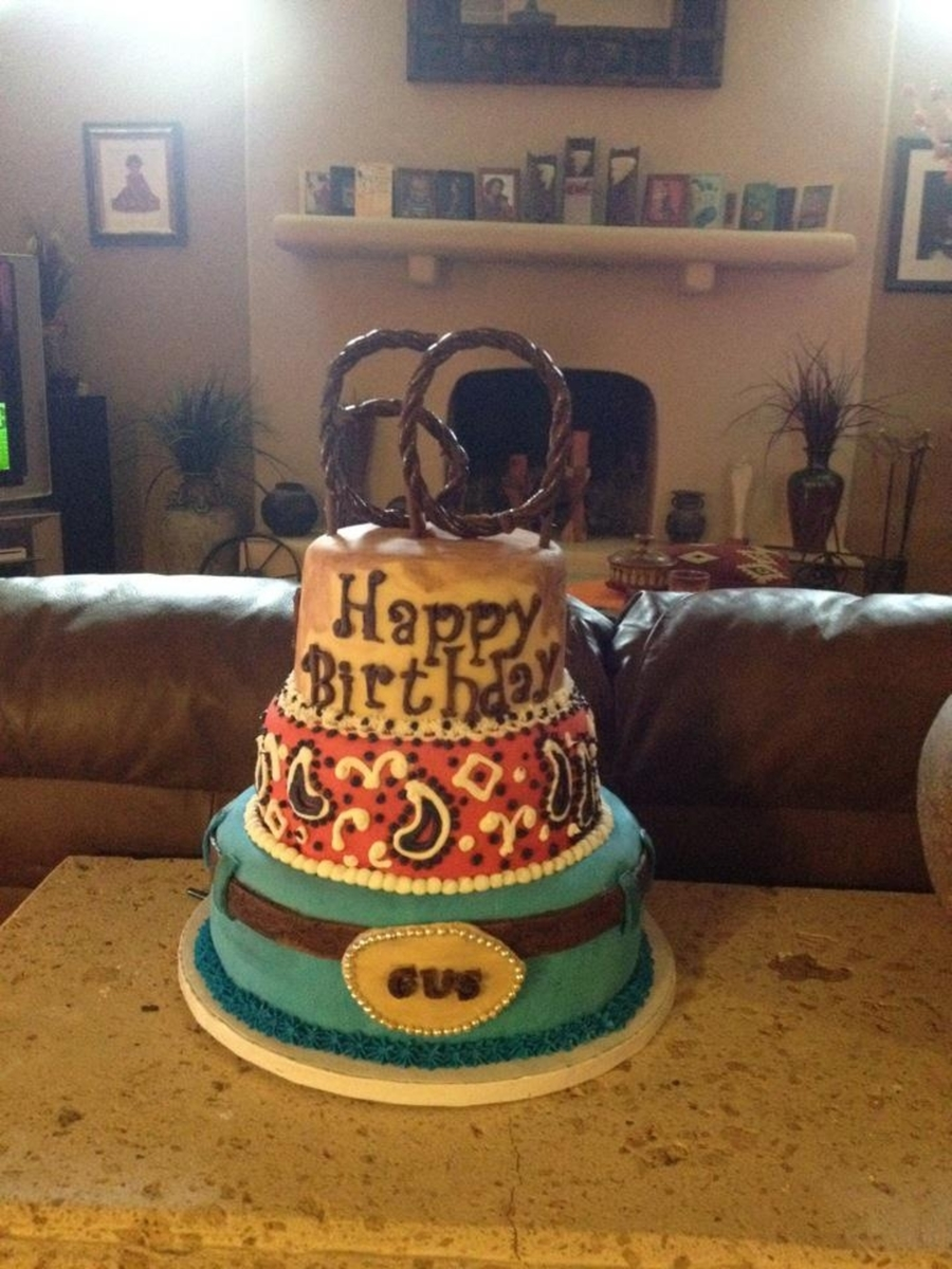 Western Themed Cake - CakeCentral.com