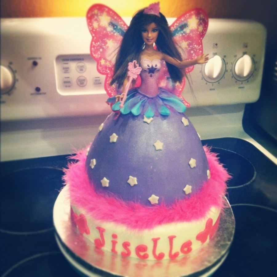 Butterfly Barbie Cake Images : Butterfly Barbie Cake - CakeCentral.com