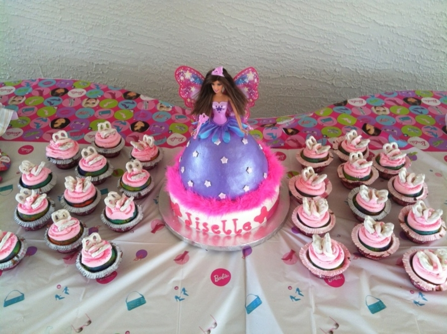 Butterfly Barbie Cake - CakeCentral.com