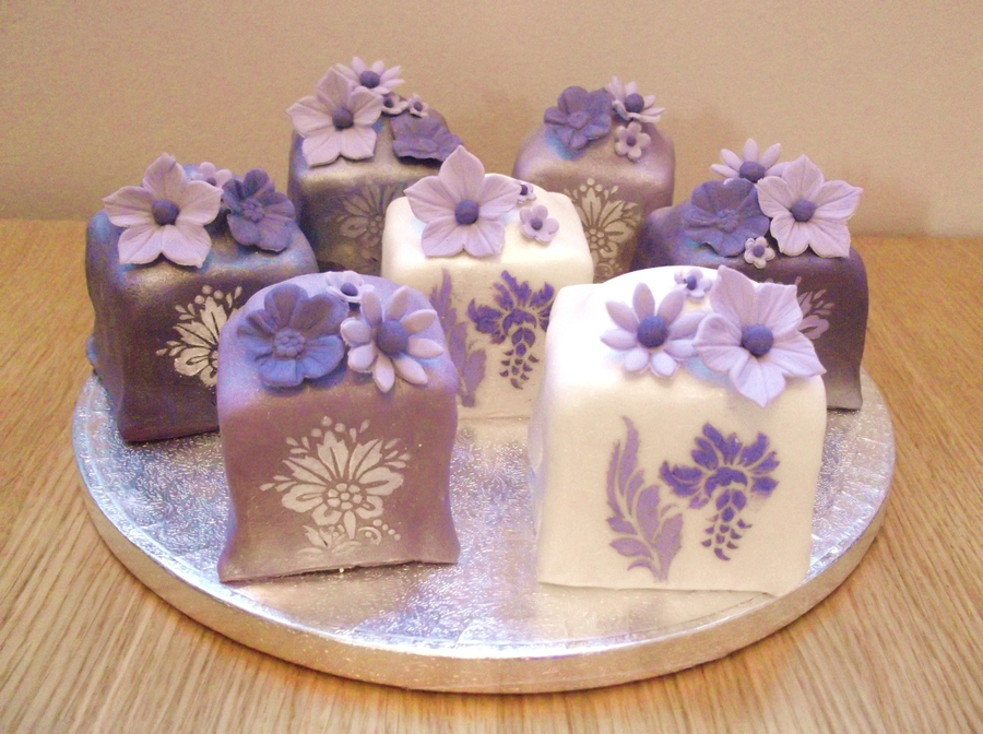 Purple Mini Cakes on Cake Central