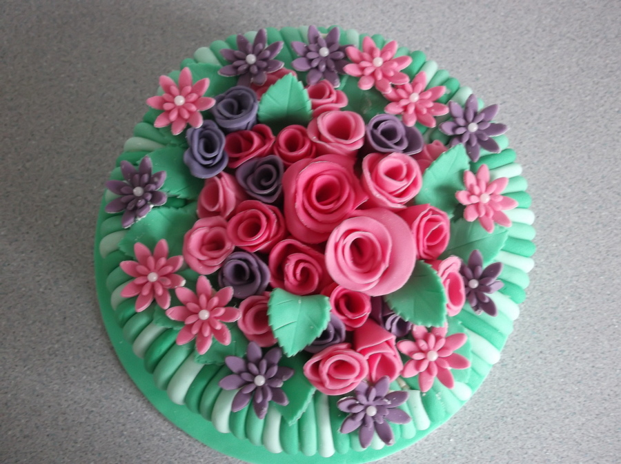 Flower Birthday Cake on Cake Central