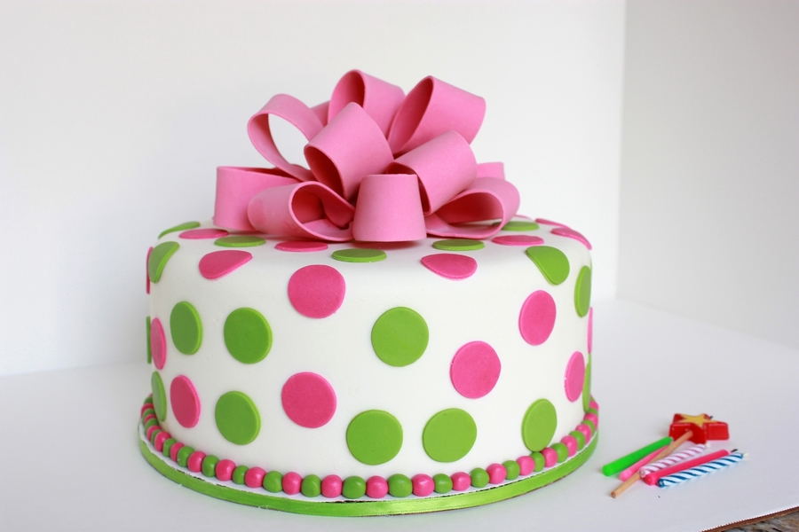 Pink Green Baby Shower Cake Cakecentral