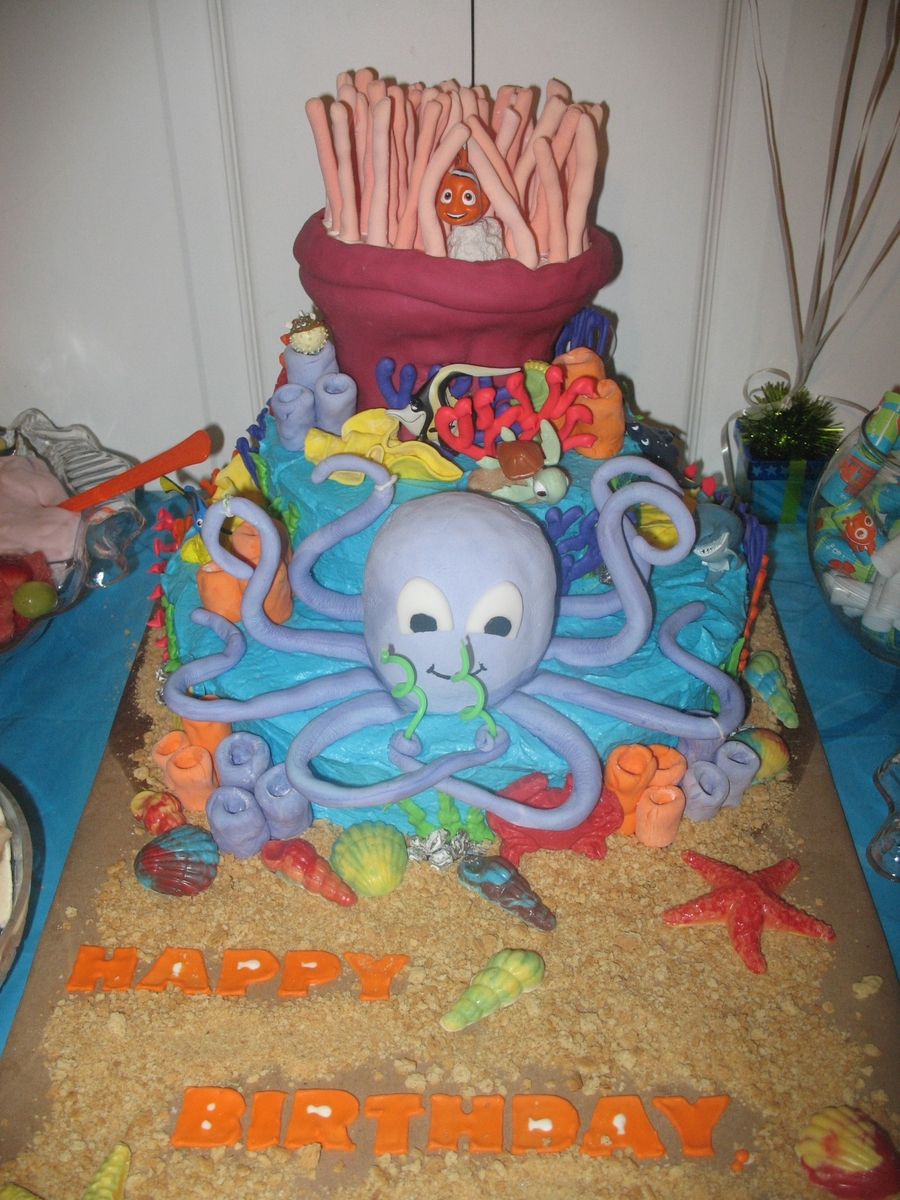 Owen's Under The Sea Birthday Cake on Cake Central