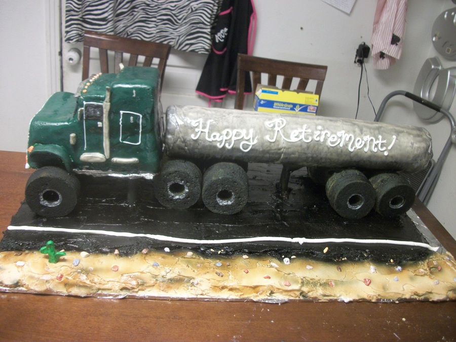18 Wheeler Retirement Cake  on Cake Central