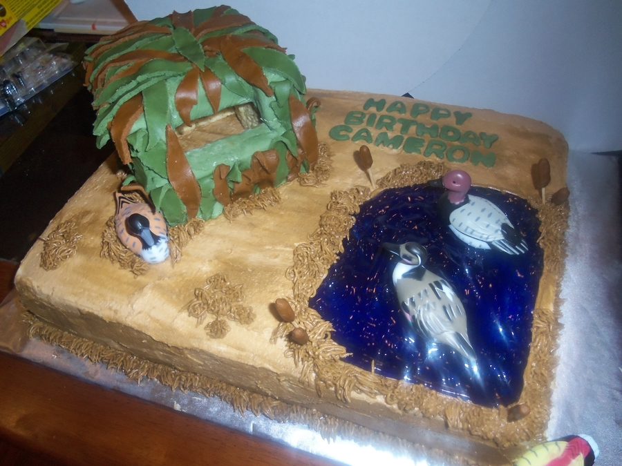 Hunting Scene Cake Decorations : Duck Hunting Cake - CakeCentral.com