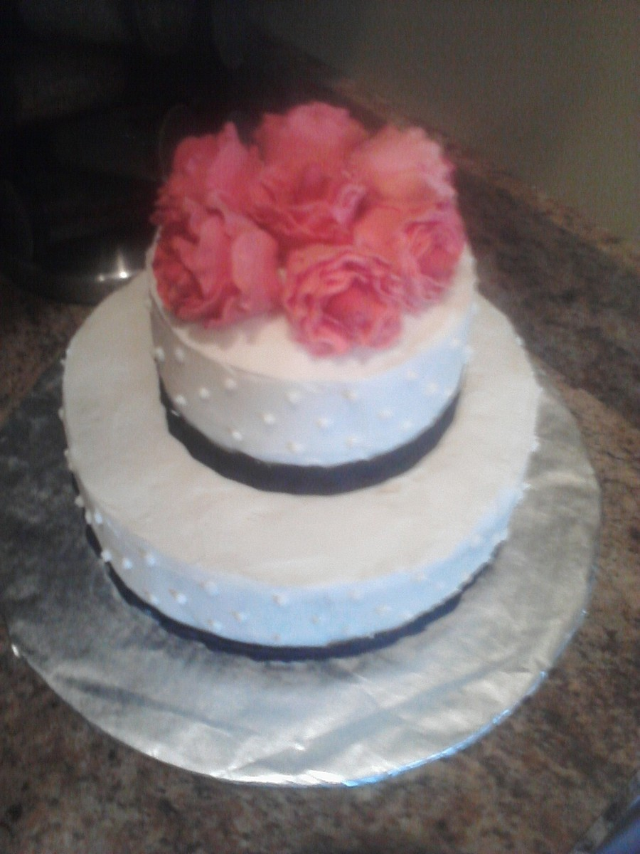 Stacked Cake With Roses on Cake Central