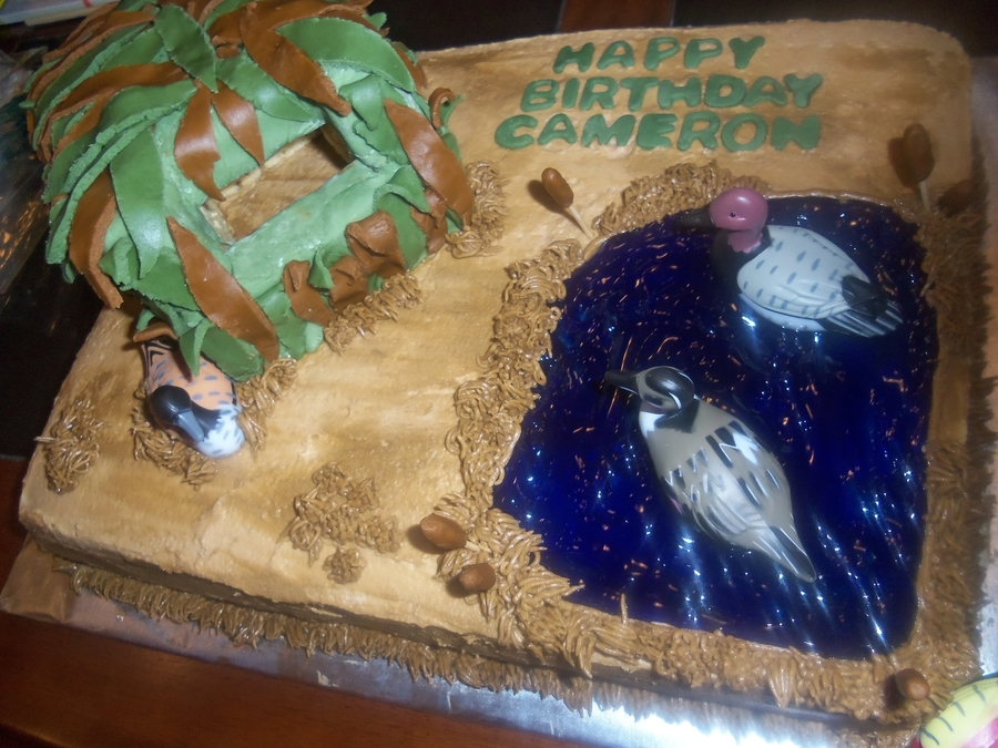 Duck Hunting Cake Decorations : Duck Hunting Cake - CakeCentral.com