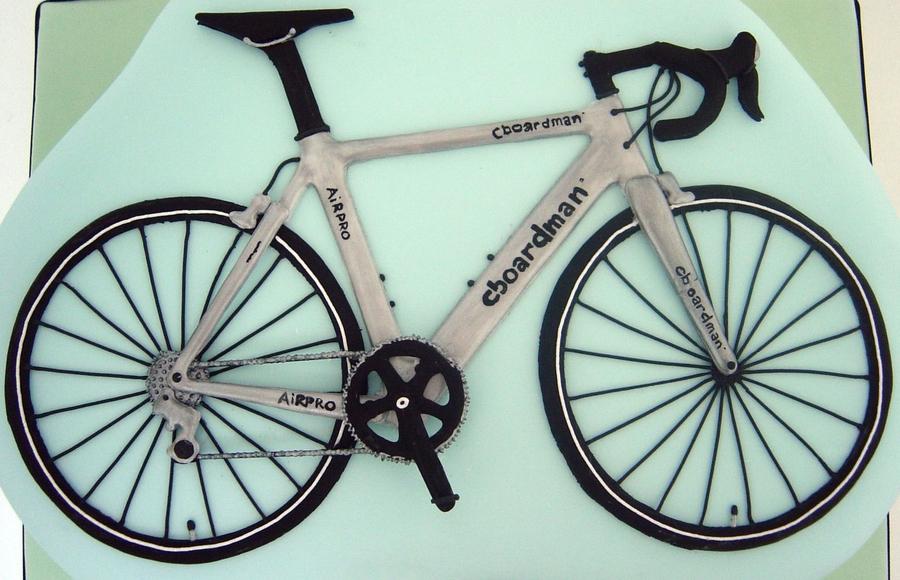 Chris Boardman Road Bike Cake - CakeCentral.com