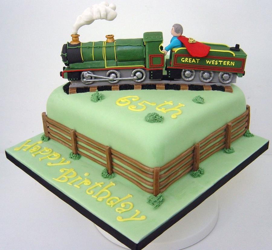 Train Shaped Cupcake Cake
