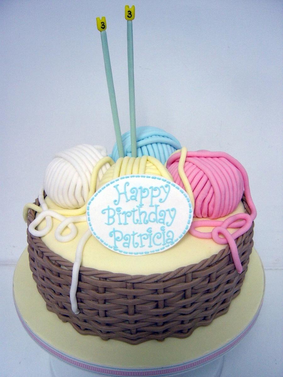Basket Of Wool Birthday Cake