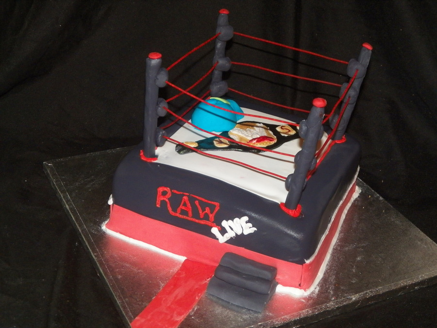 Wrestling Ring Cake on Cake Central