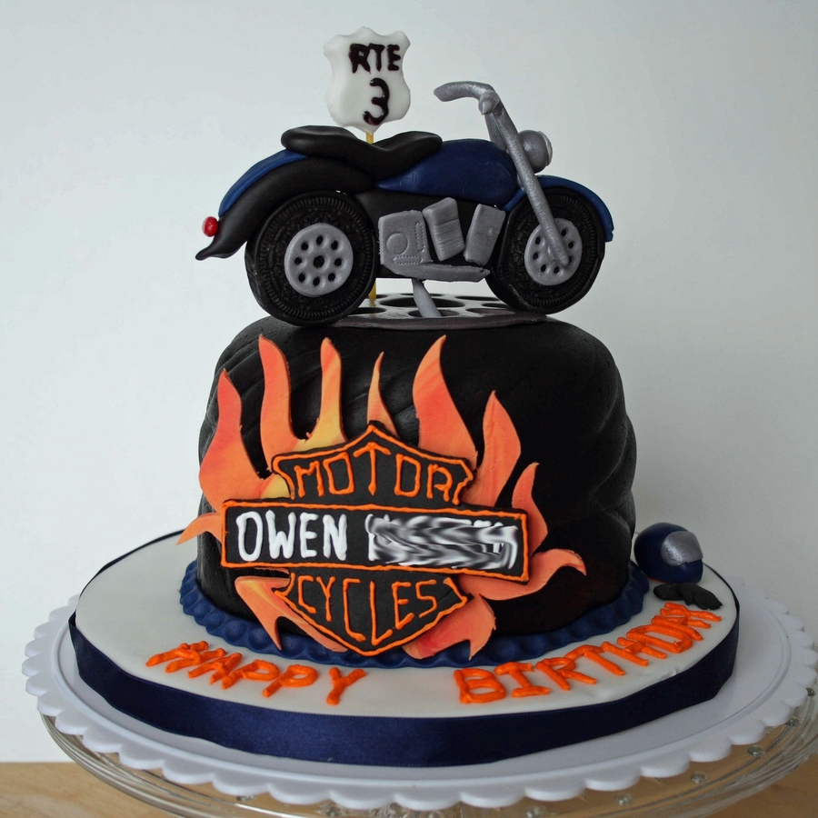 Motor Bike Birthday Cake Steve