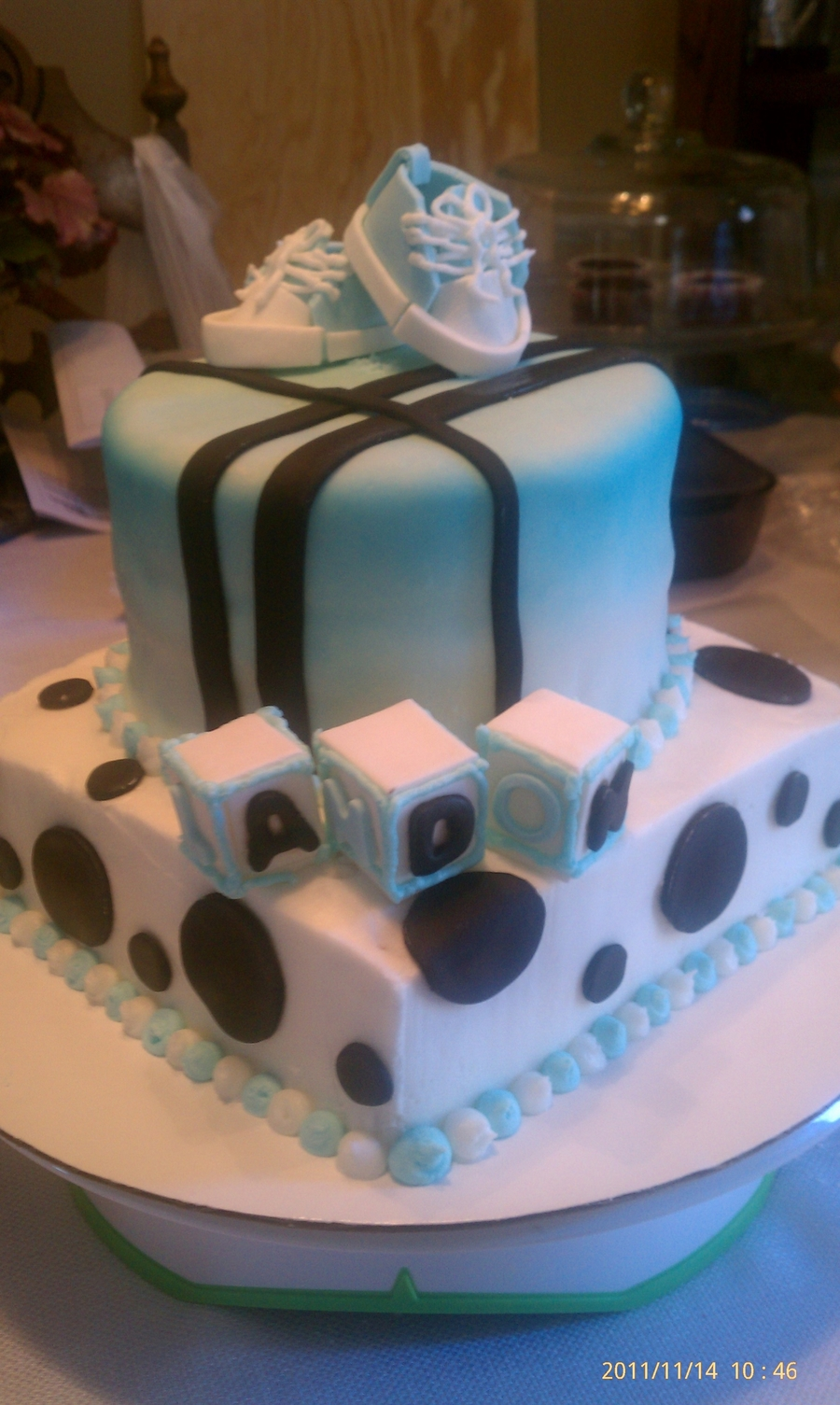 Baby Boy Sneakers on Cake Central
