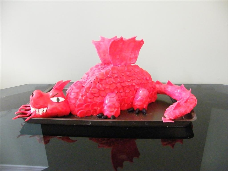 Red And White Dragon Cake Topper