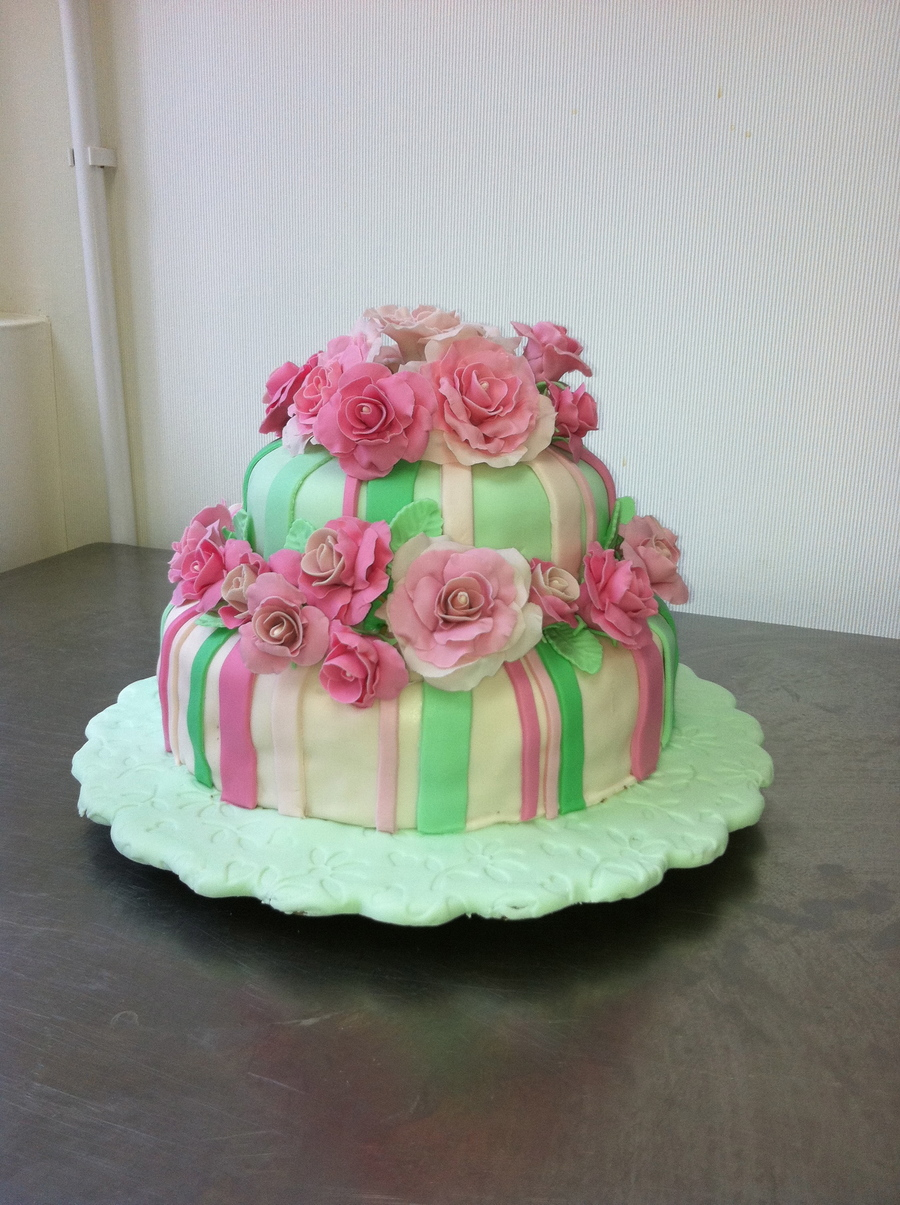 Practice Cake For Gum Paste Class on Cake Central