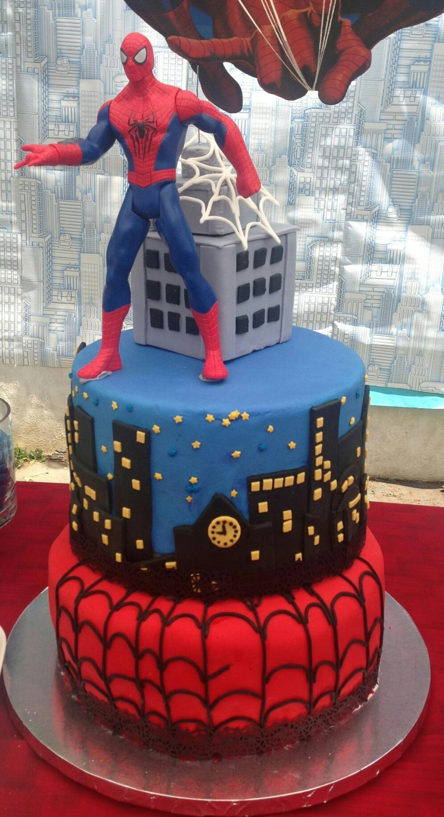 Spiderman Birthday Cake   CakeCentral.com