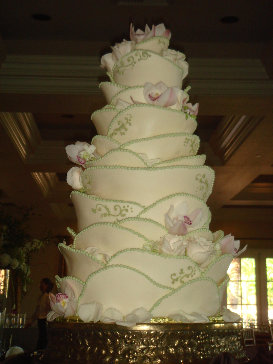 White Chocolate Petal Cake on Cake Central