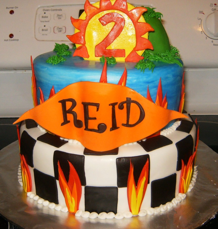 Hotwheels Themed Birthday Cake on Cake Central