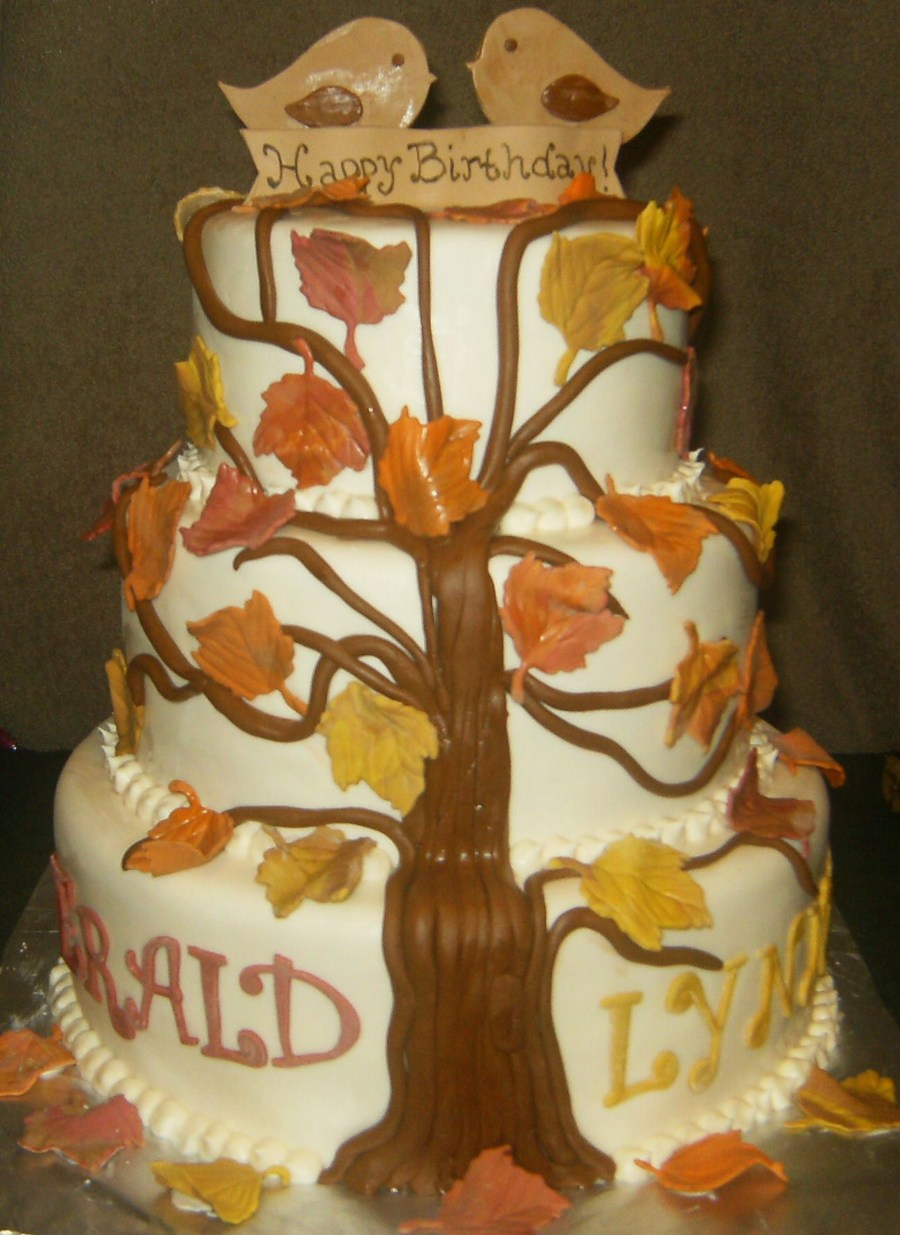 Birthday Cake For Wifehusband That Share The Same Birthdayfall Themed on Cake Central