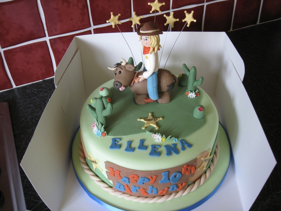 Rodeo Childrens Birthday Cake CakeCentralcom