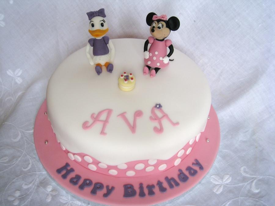 Prime Minnie Daisy Birthday Cake Cakecentral Com Personalised Birthday Cards Vishlily Jamesorg