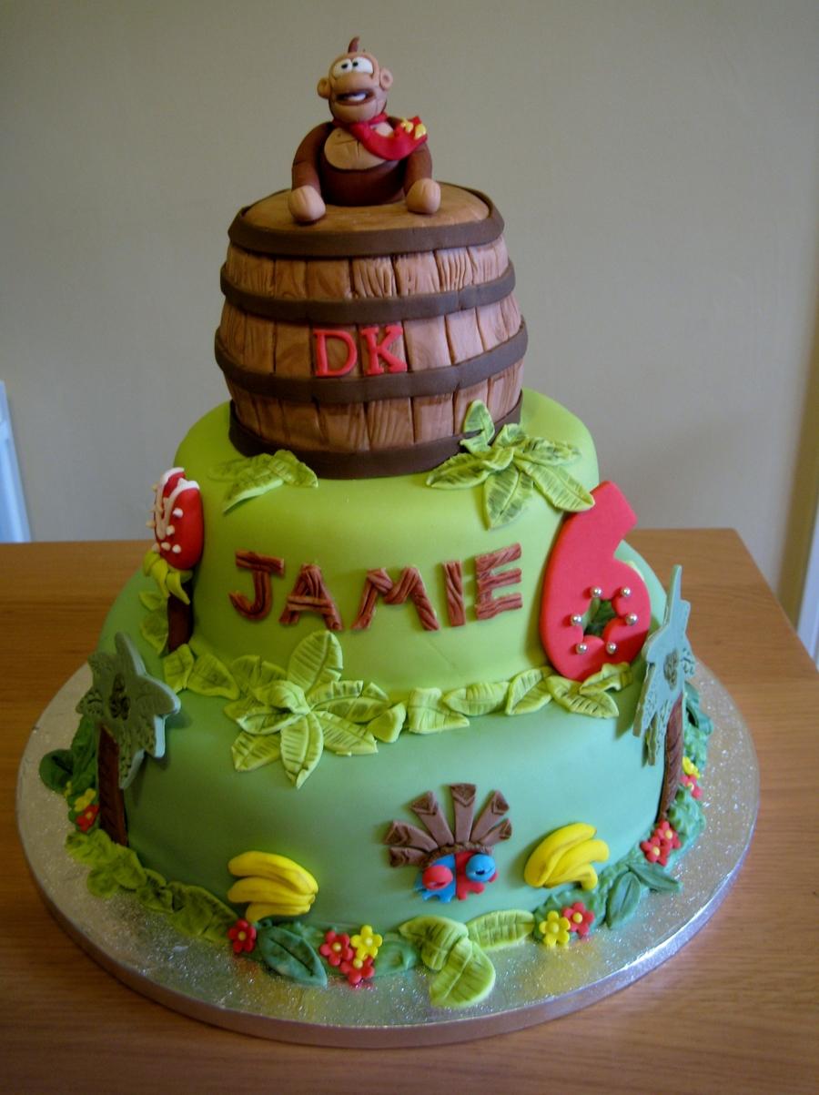 Outstanding Donkey Kong Birthday Cake Cakecentral Com Funny Birthday Cards Online Amentibdeldamsfinfo