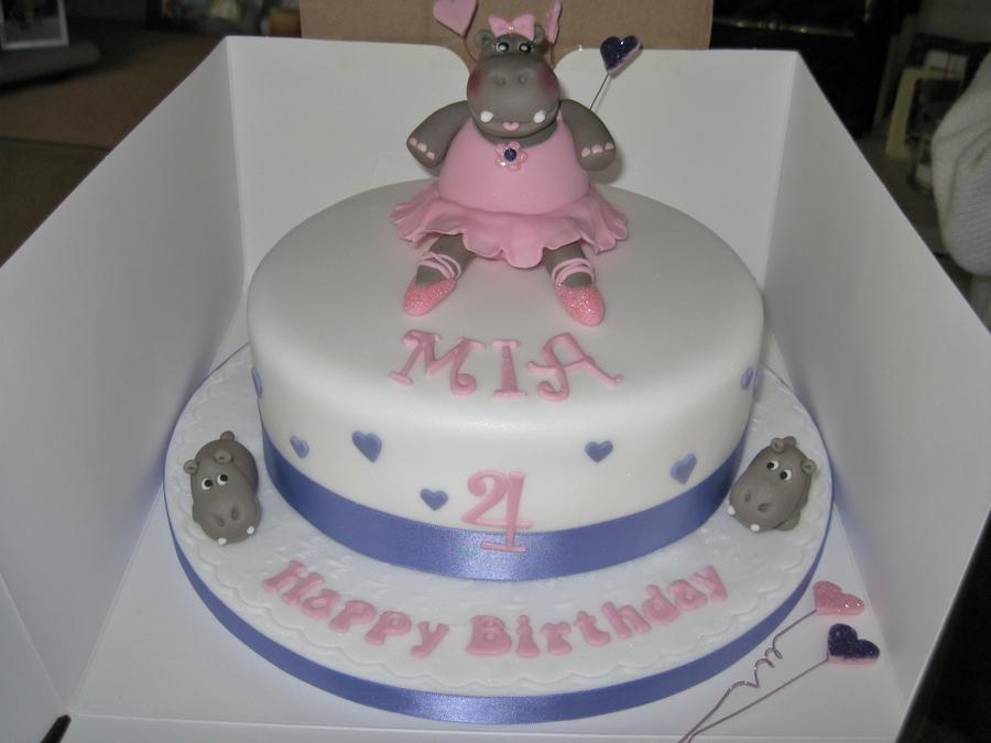 Hippo In A Bath Cake Topper